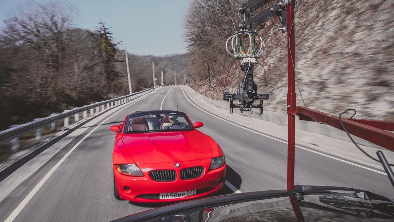 Съемка авто в движении