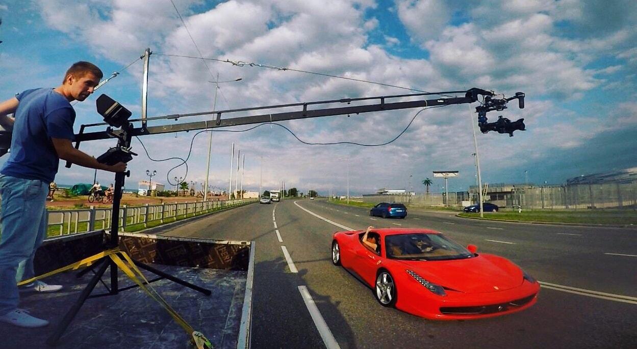 Съемка авто в движении в 2015г